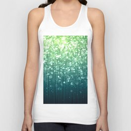 Spring Teal Green Sparkles Unisex Tank Top