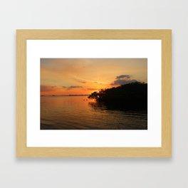 Night Glow Framed Art Print