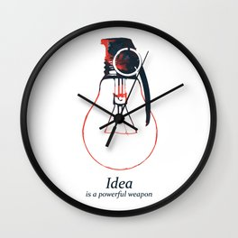 Idea Bomb (2) Wall Clock