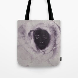 Purple Flower Lady Tote Bag