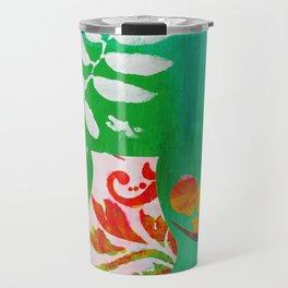 Fern & Peaches Still Life Travel Mug