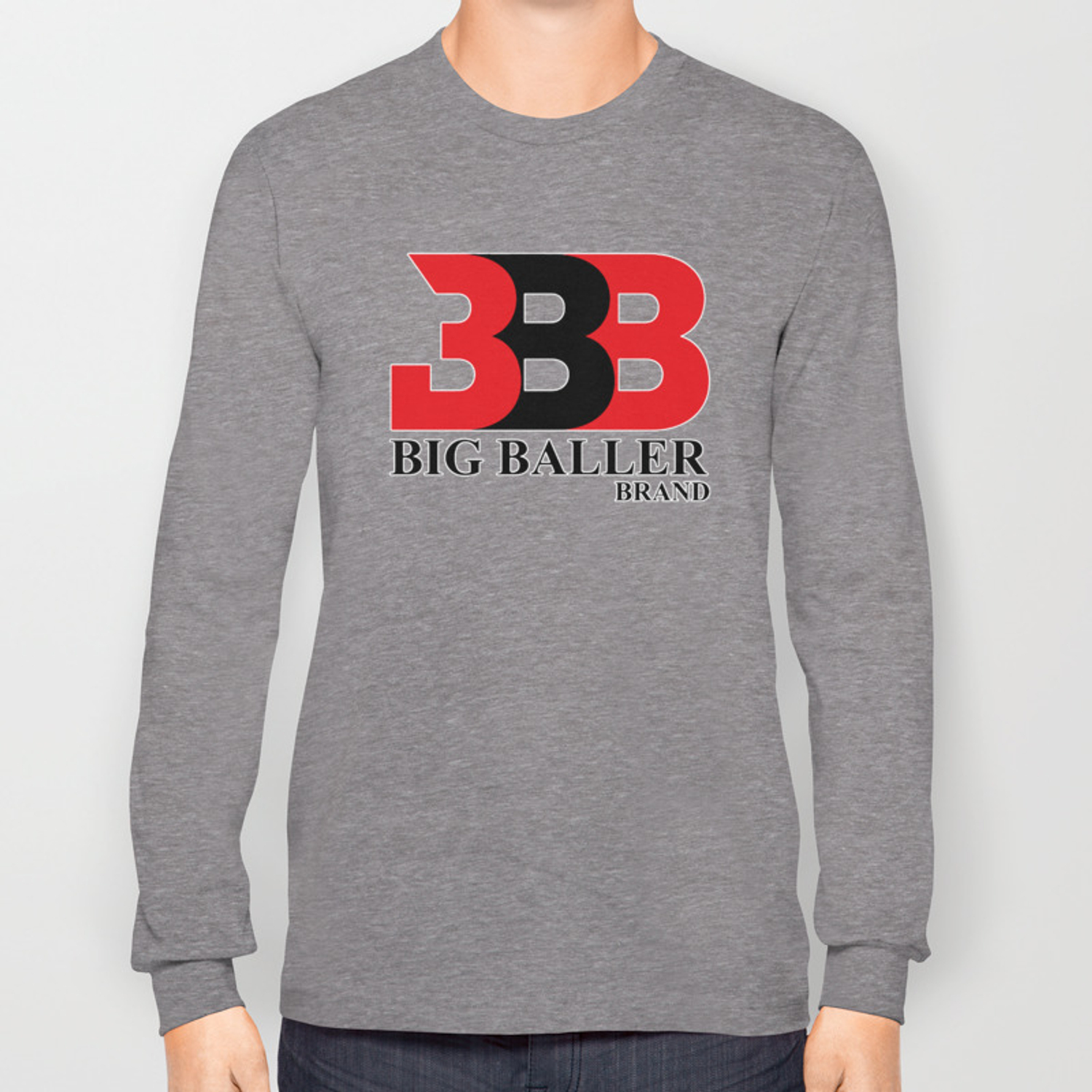 fa6e61d74bce Big Baller Brand in red black Long Sleeve T-shirt by aristotelles   Society6