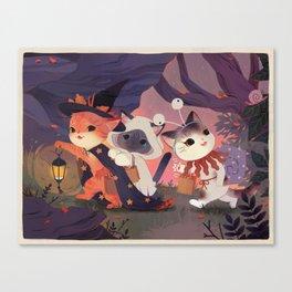 Adventure Cats Canvas Print
