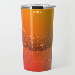 Bureau Oberhaeuser Calendar 2016 orange, german Travel Mug