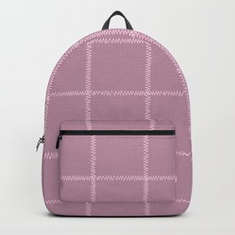 French Pink Linen Check Backpack