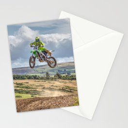 flying high in Motocross Stationery Cards