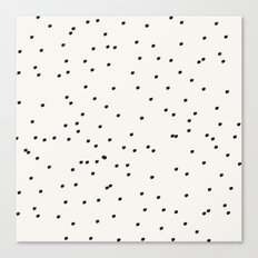 Dashing Dots Pattern Canvas Print