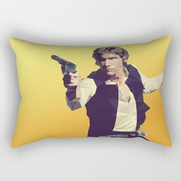 Going Somewhere Solo? - Low Poly Han Rectangular Pillow
