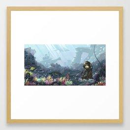 Underwater Gardener Framed Art Print