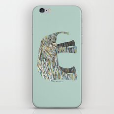 Elephant Paper Collage in Gray, Aqua and Seafoam iPhone & iPod Skin