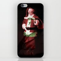 darwin iPhone & iPod Skins featuring Darwin/Santa by Ellen Lundgren