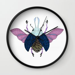 Beetle #3 Color Wall Clock
