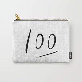 100 typography Carry-All Pouch
