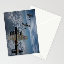 Lancaster Bomber and Spitfires Stationery Cards