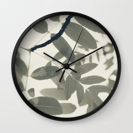 Light Green Forest Leaves Abstract Wall Clock
