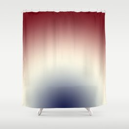 Radical Red White Blue Shower Curtain