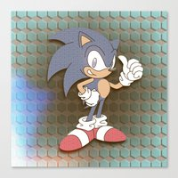 """sonic Canvas Prints featuring """"SONIC"""" by Retro Zombie"""