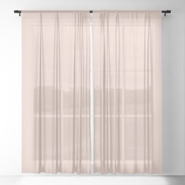 Pale Dogwood | Pantone Fashion Color Spring : Summer 2017 | Solid Color Sheer Curtain