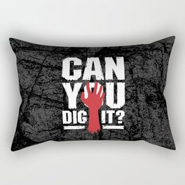 Can You Dig It? Funny Zombie Halloween Rectangular Pillow