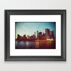 When the Lights Go Out Framed Art Print