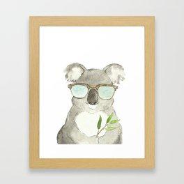 Mr. Koala in sunglasses Framed Art Print