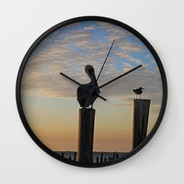 Duplicitous Characters II Wall Clock