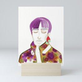 Cory with Winter Coat Mini Art Print