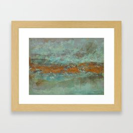 Blue Green Worlds Framed Art Print