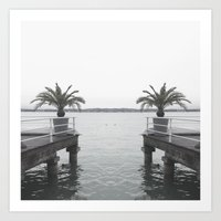 palm Art Prints featuring Palm by Sarah Friend