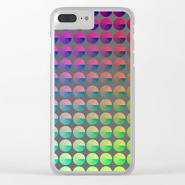 Rainbow pie chart pattern Clear iPhone Case