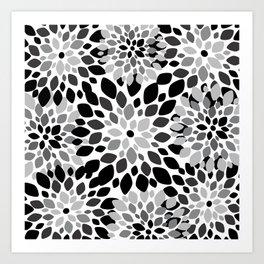 Black and White Burst Art Print