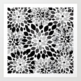 Black and White Burst Art Print