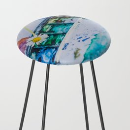 Watercolor Counter Stool