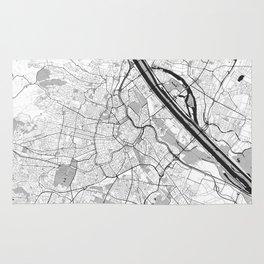 Vienna City Map Gray Rug