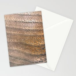 Warm Waved Wood Stationery Cards