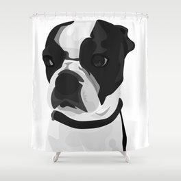 Tucker the Boston Terrier Shower Curtain