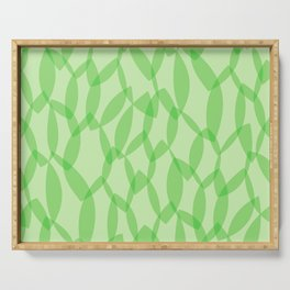 Overlapping Leaves - Light Green Serving Tray