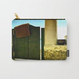 green old garden door Carry-All Pouch