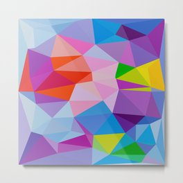 Geometric Abstract Art Pattern Eight Metal Print