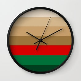 Coffee Irish Flavored Liqueur with Cream - Abstract Wall Clock