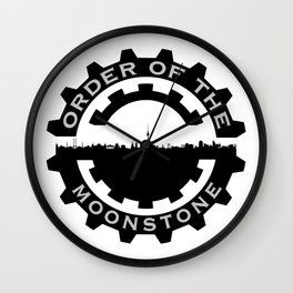 Order of the MoonStone series badge Wall Clock