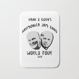 Biden and Kaine's Harmonica Jam Band Tour 2016 Bath Mat