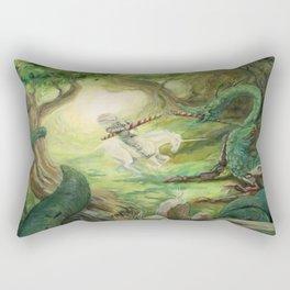 Saint George and the Dragon Rectangular Pillow