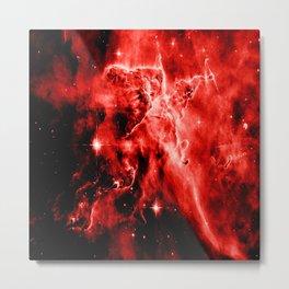 galAXY. Red Mystic Mountain Nebula Metal Print