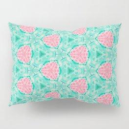 Millennial Pink Chenille and Mint Anchor  Pattern Pillow Sham