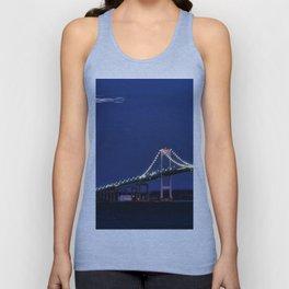 Newport Bridge at twilight- Newport, Rhode Island Unisex Tank Top