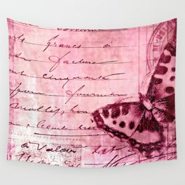 pink postage Wall Tapestry