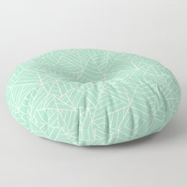 Ab Lines New 2 Mint Green Floor Pillow