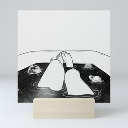 Magical bath tube. Mini Art Print