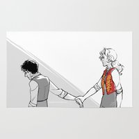 enjolras Area & Throw Rugs featuring is your life just one more lie by Leonie X. Li